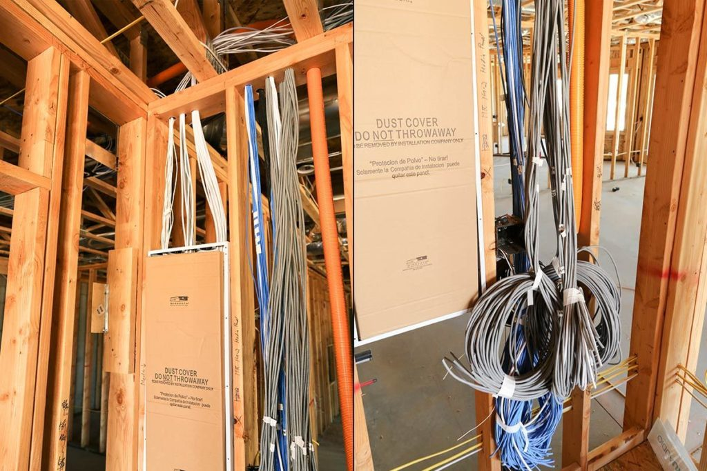 prewiring in new home construction
