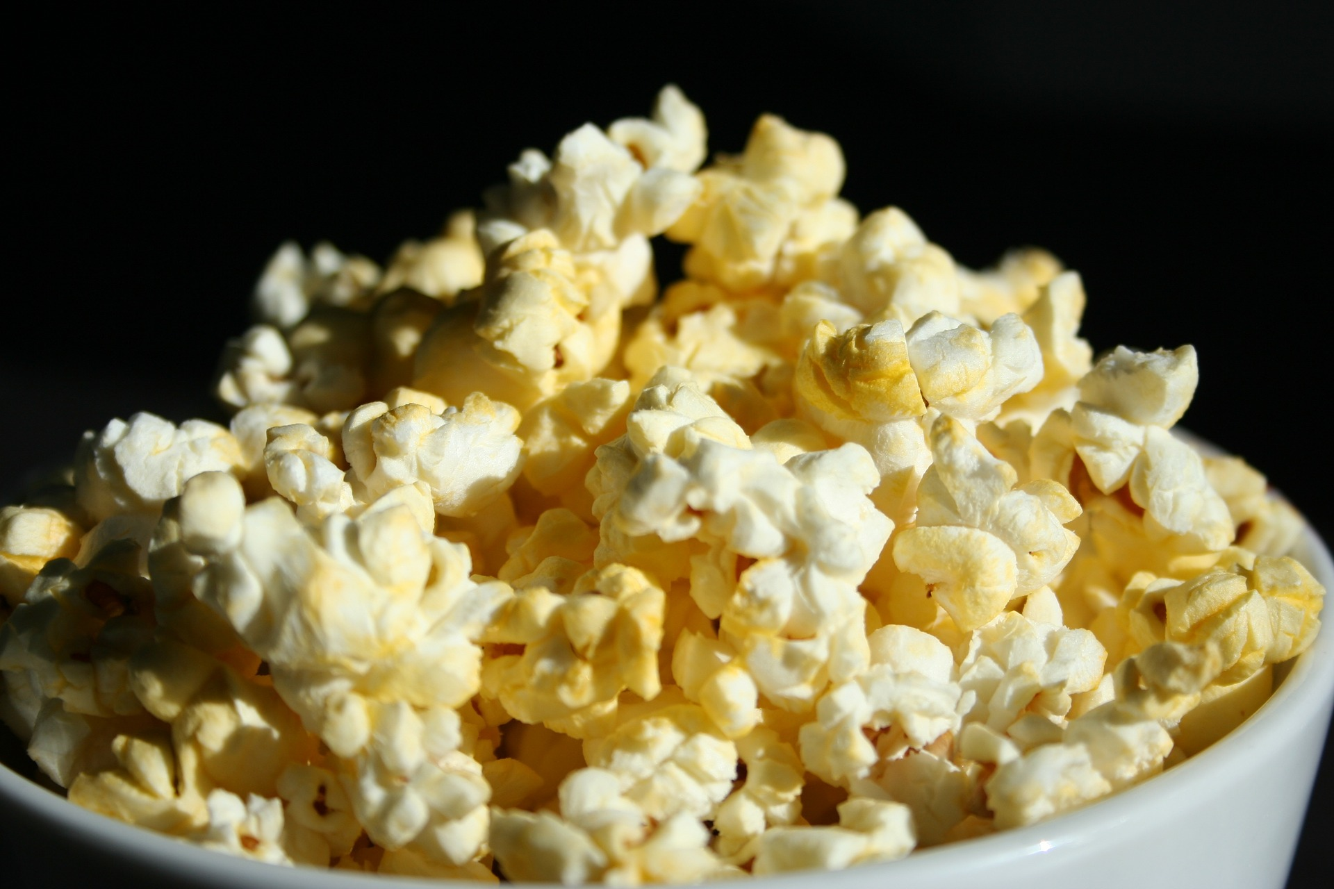 bucket of popcorn to enjoy while streaming movies