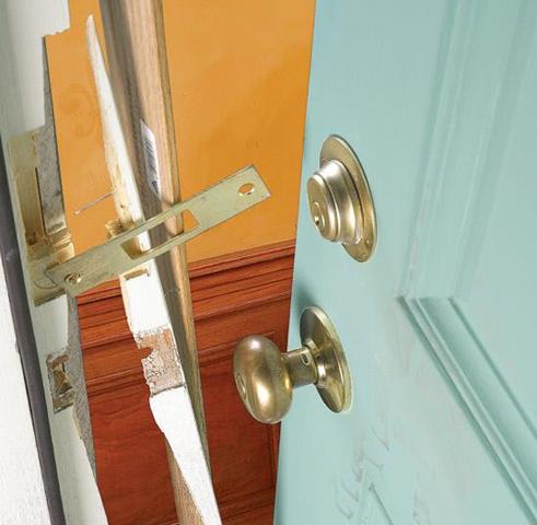 Broken front door lock