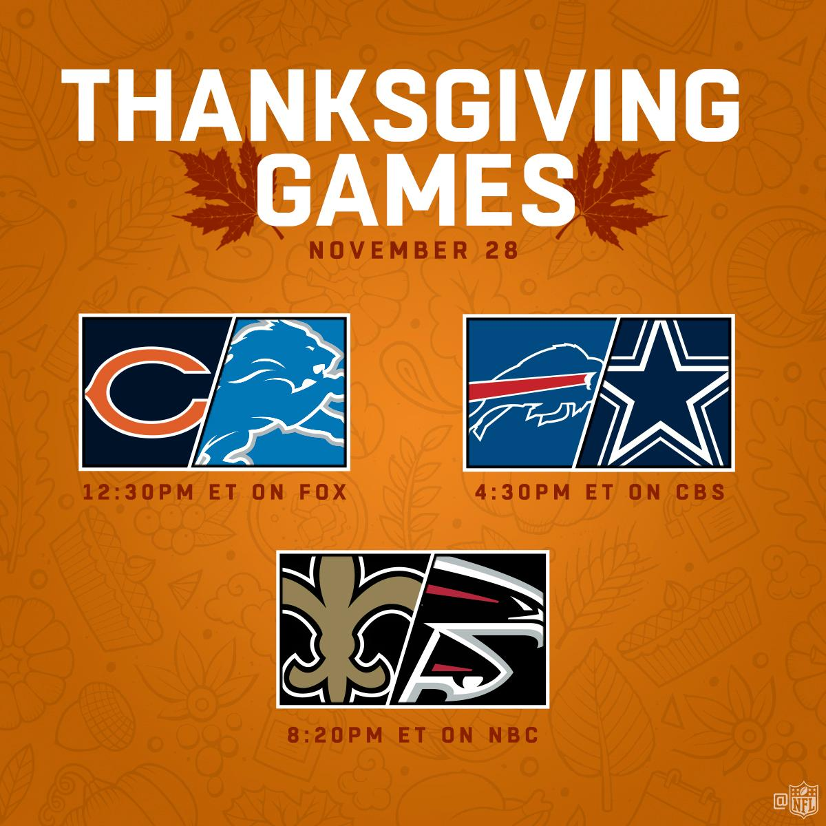 thanksgiving 2019 football games image