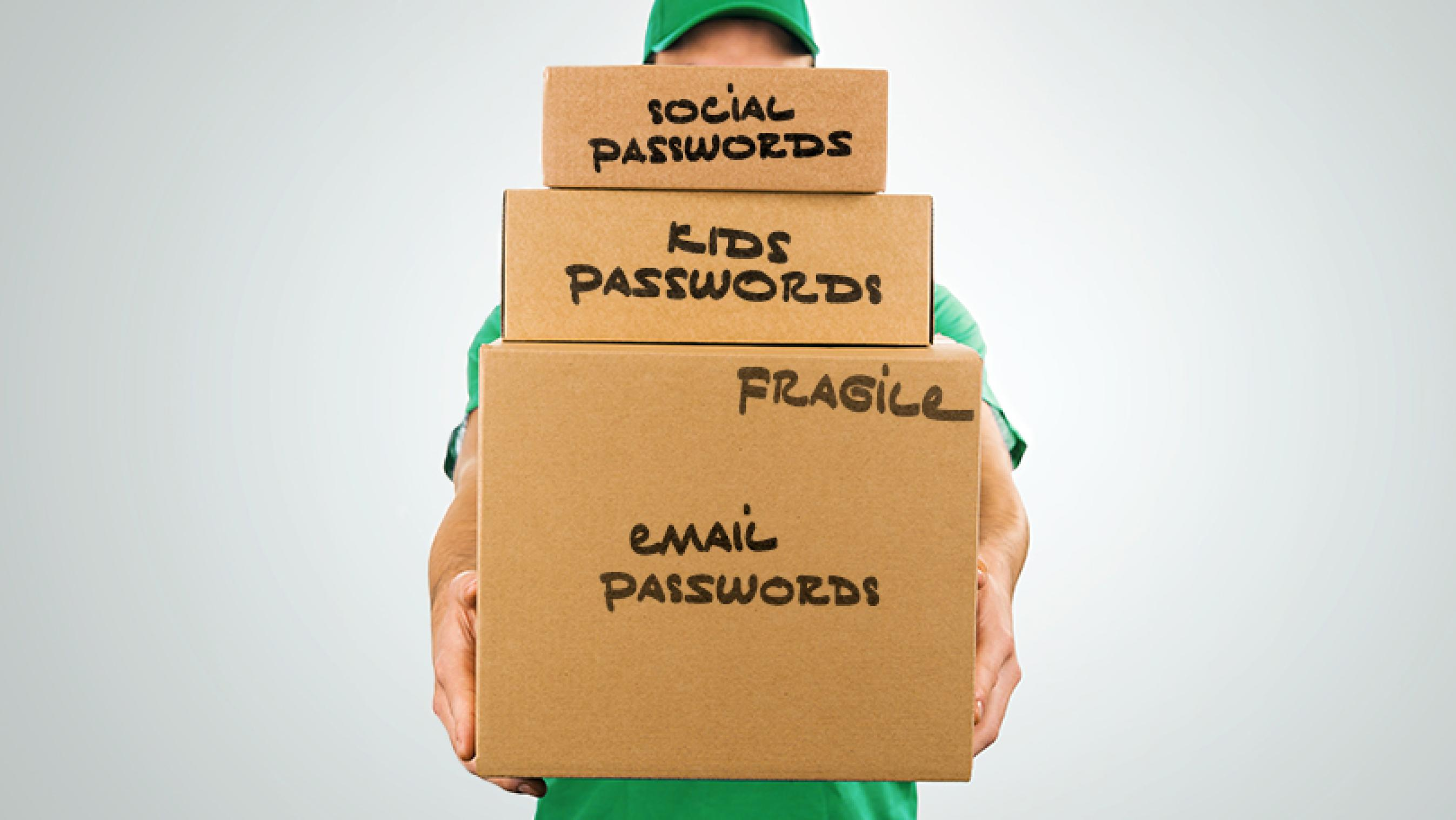 boxes carrying passwords