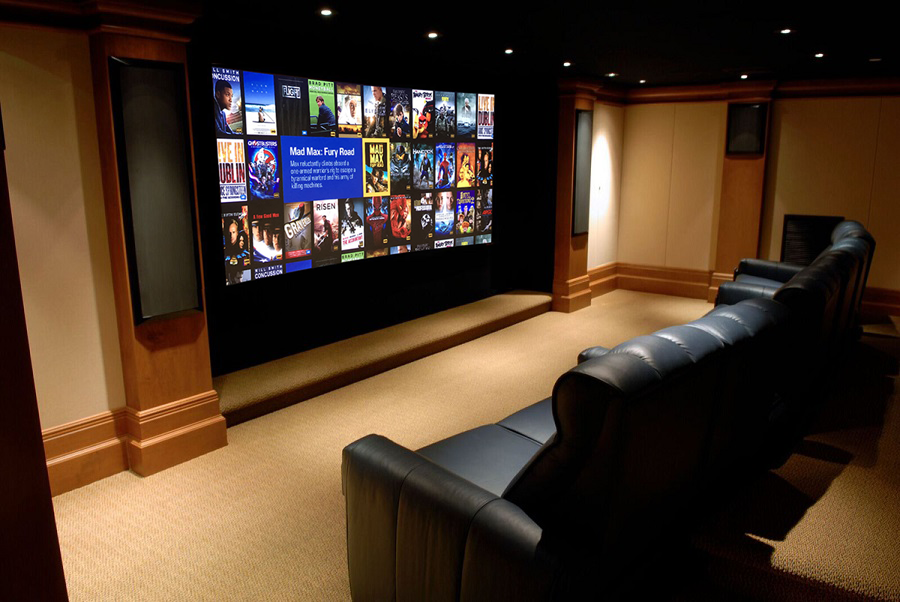 beautiful home theater